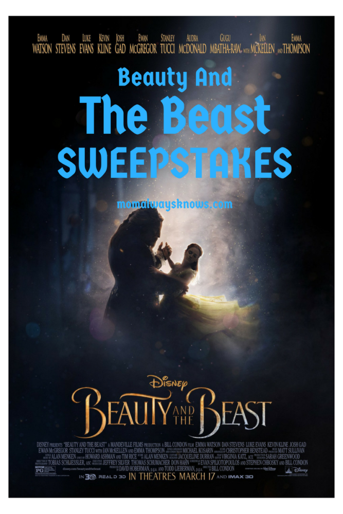 Disney Beauty And The Beast Sweepstakes Mom Always Knows