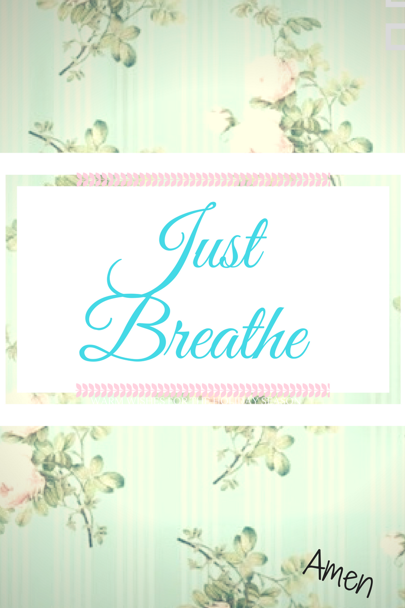 just breathe graphic