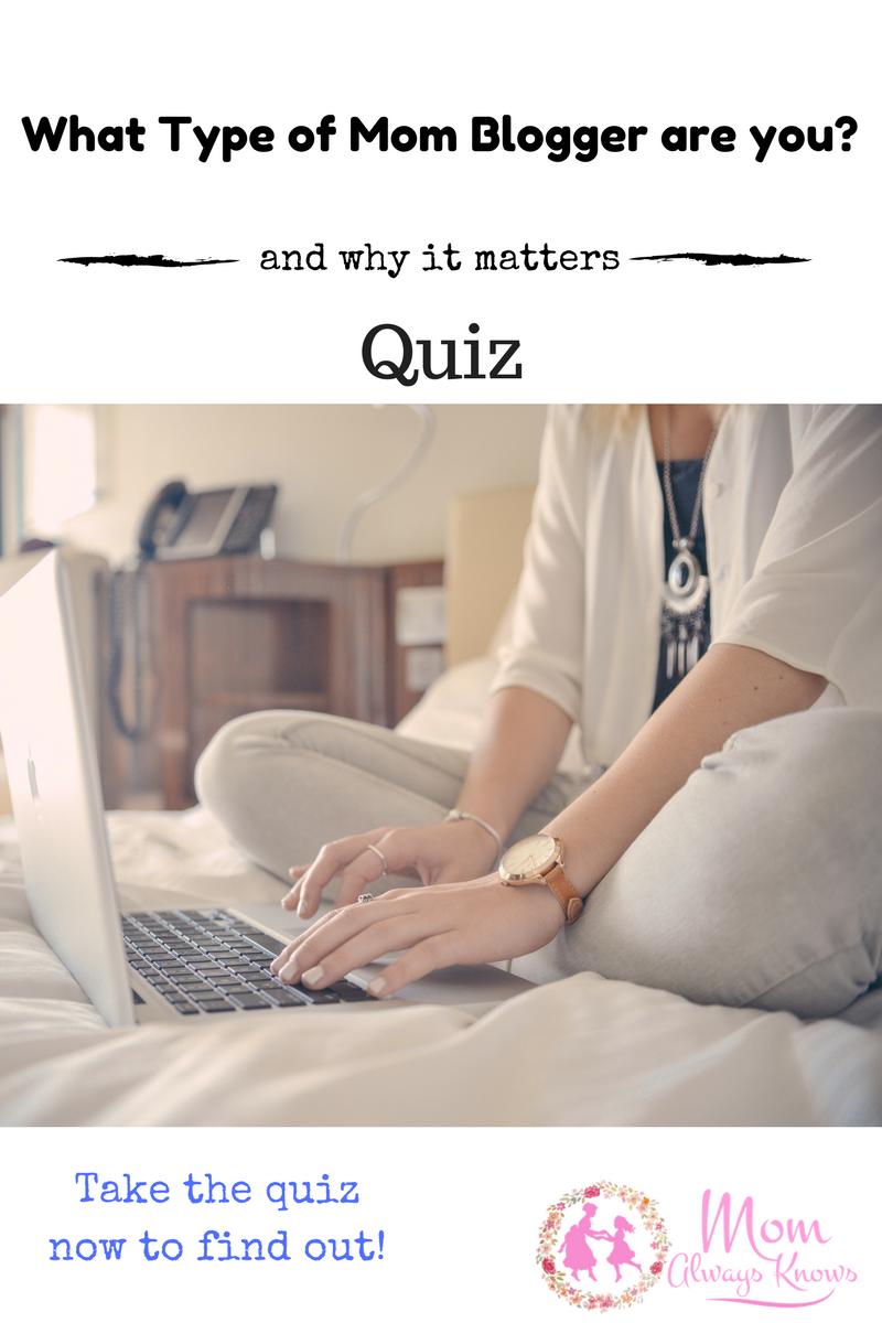 mom blogger quiz