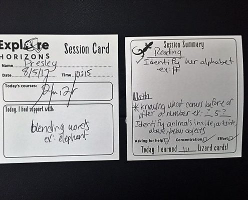 explore horizons session card
