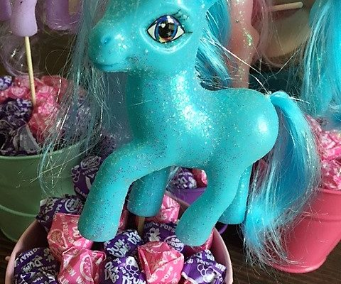table decoration for my little pony party